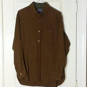 Vintage 100% Virgin Wool Long-Sleeve Button Down